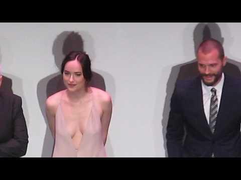 Fifty Shades Darker - LA Premiere - 2.2.17 - stage intro - Jamie Dornan - Dakota Johnson