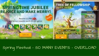 Rise of Kingdoms: Spring Festival - Spring Jubilee - Puzzle Game - Tree Progress