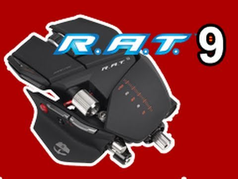 MadCatz CYBORG R.A.T. 9 Wireless Gaming Mouse Unboxing & Review! Demo!