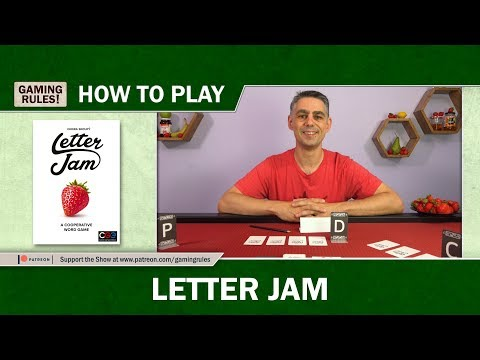 Letter Jam - How to Play tutorial video from Gaming Rules! thumbnail