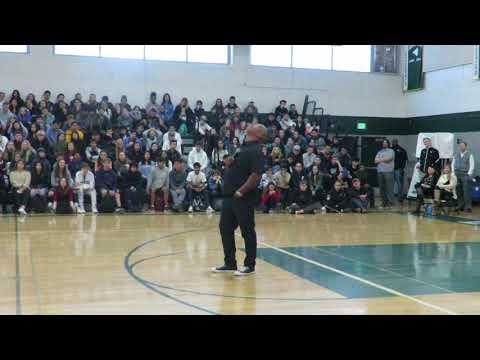 Keith Hawkins Speaks at Leigh High School