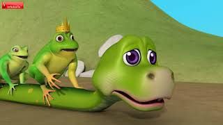 Moral Stories for Kids - The Frogs and the Cunning Snake | Infobells