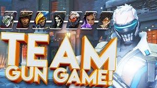 OVERWATCH TEAM GUN GAME CUSTOM GAMES!!