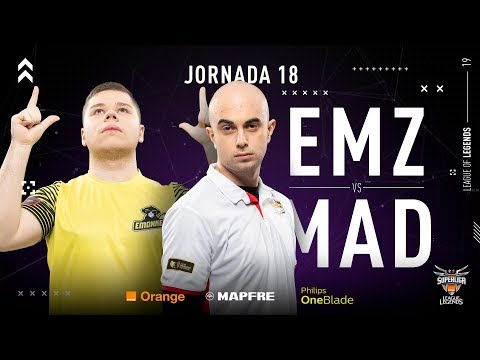 EMONKEYZ CLUB VS MAD LIONS E.C. | Superliga Orange League of Legends | Jornada 18 | Temporada 2019 thumbnail