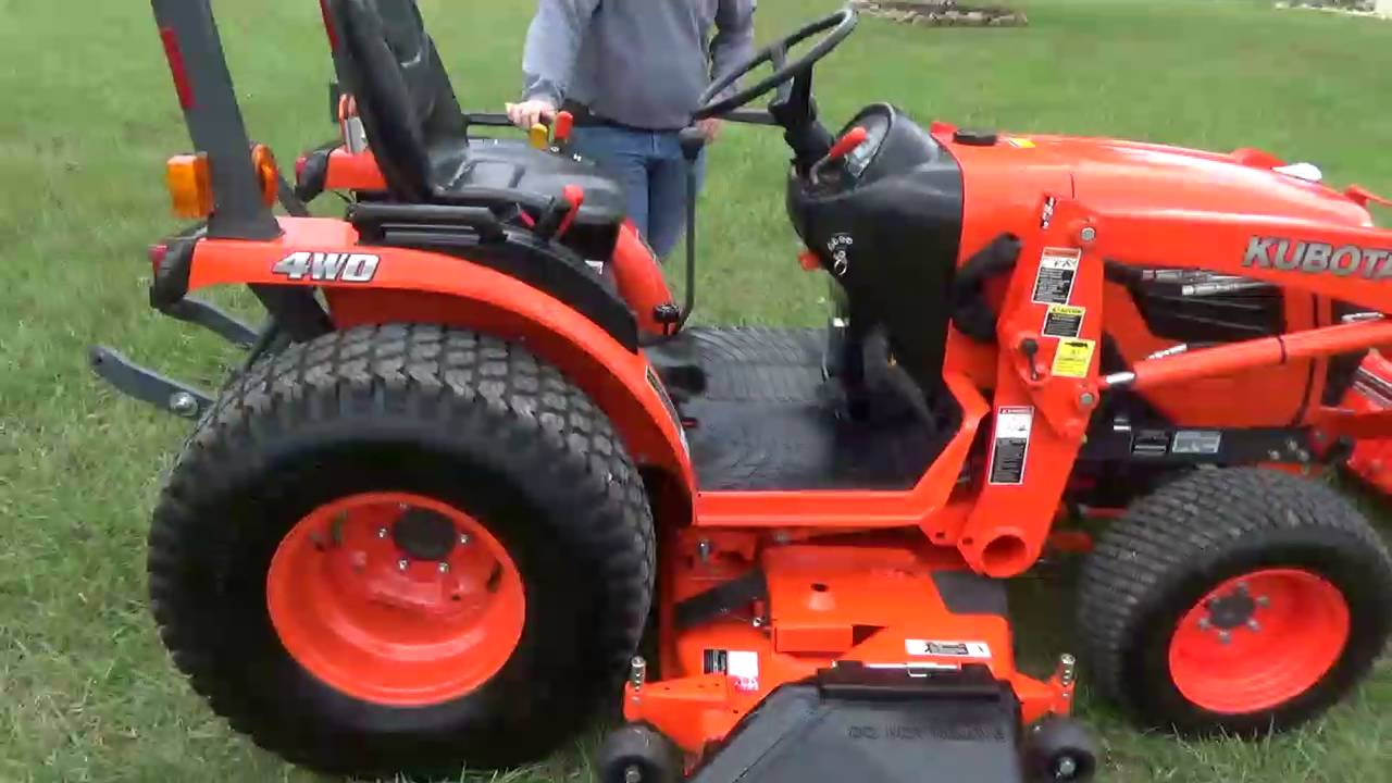 Kubota Belly Mower Decks : Kubota b compact tractor loader belly mower