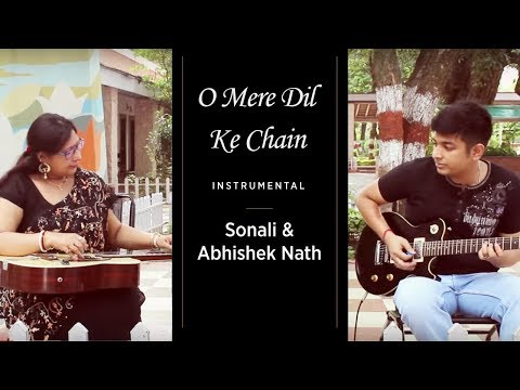 O Mere Dil Ke Chain Instrumental | Sonali Nath & Abhishek Nath