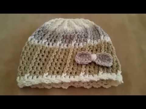 Cappellino Bimba Uncinettosombrero Del Ganchillo Del Bebéhat Girl