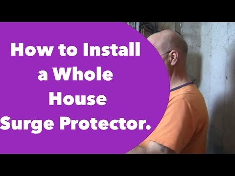 How to Install a Whole House Surge Protector.