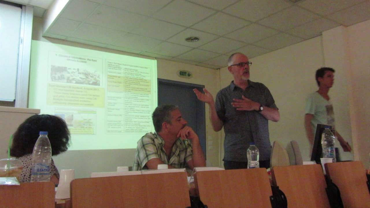 Tim Anderson on dirty war and refugees, Lesvos, Geece
