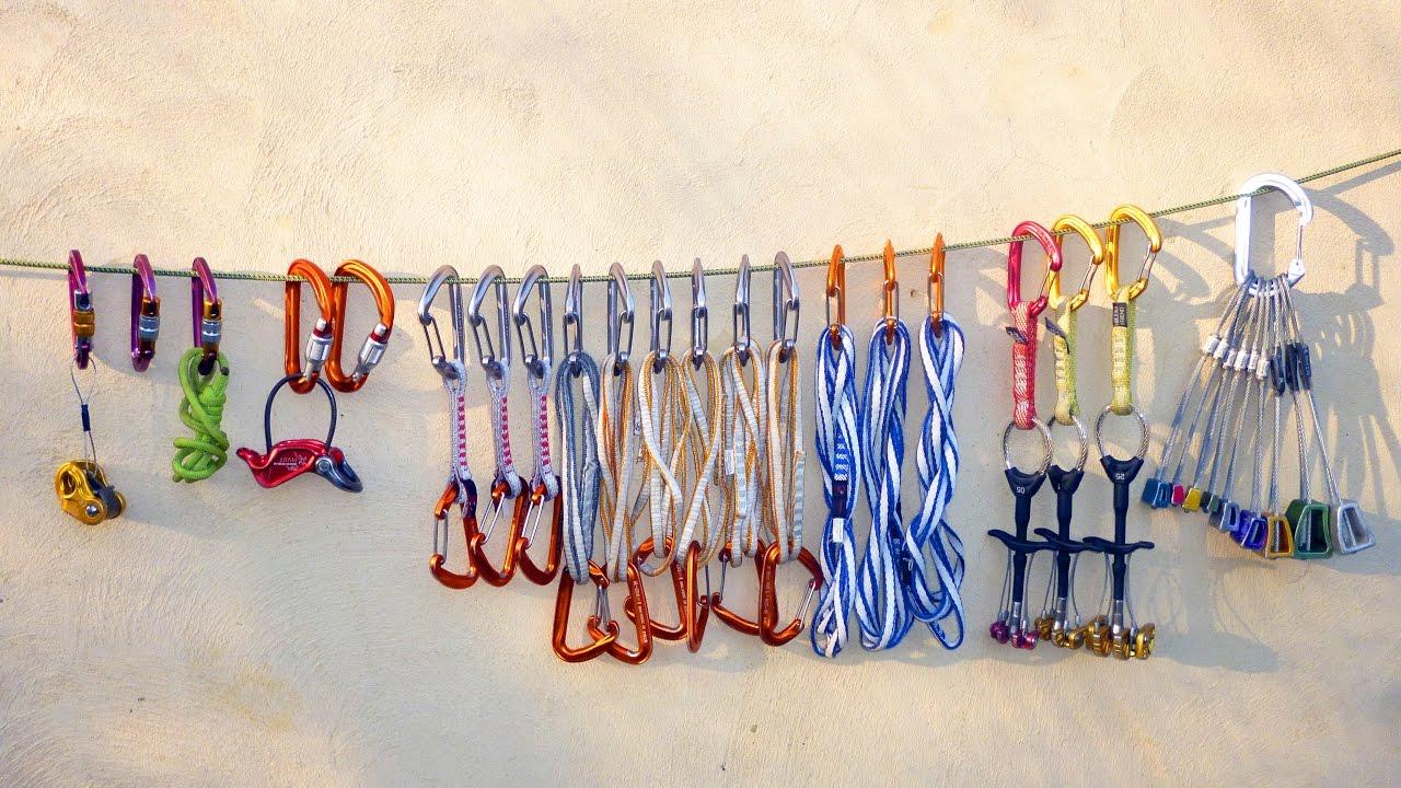 lightweight climbing trad rack