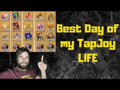 Insane Rewards On TapJoy Account | Backup Zephyrica | Castle Clash