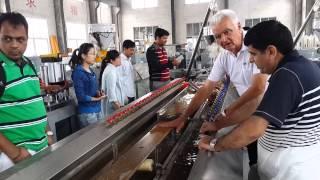 Romania Customer--wood Plastic Making Machine/ Pe Wpc Indoor Floor Machine/ Pe Wpc Floor Machine