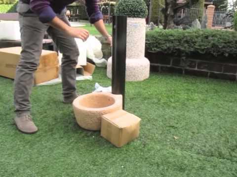 IDRA Arredo Giardino - Fontana in scatola - YouTube