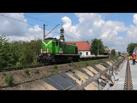 TEM2-032 stary nasyp kolejowy Kraków Grzegórzki i budowa nowej estakady w rejonie hali targowej [4K]