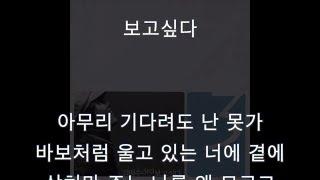 김범수 - 보고싶다 (가수 + 가사)