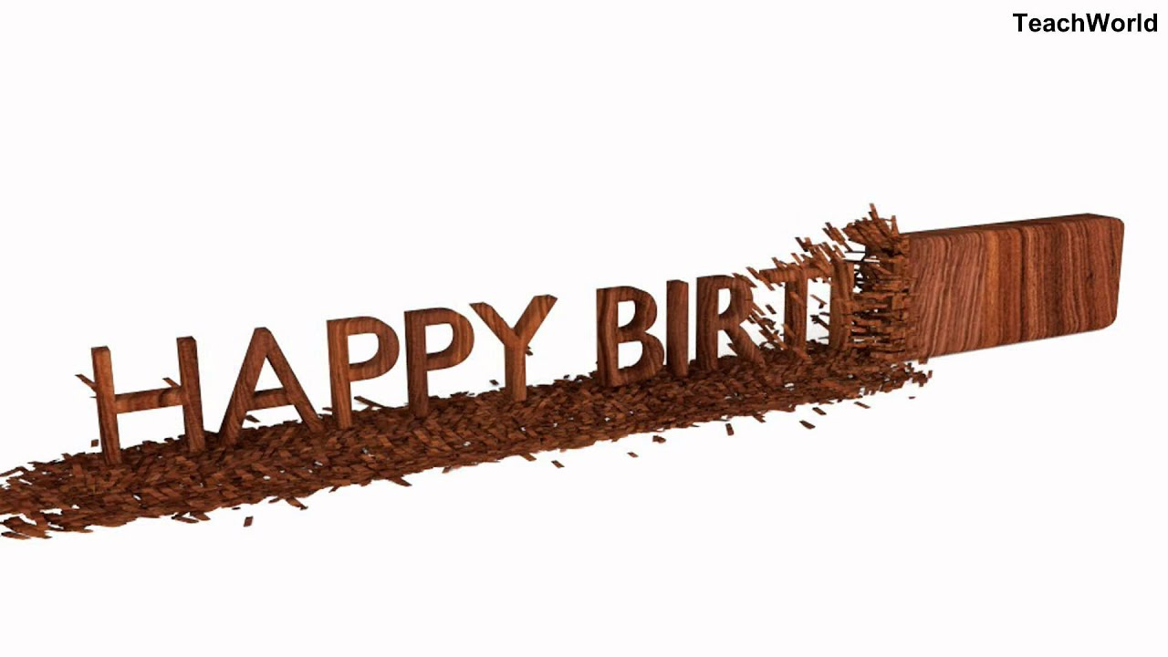 Best birthday greetings in the world made from wood chipping youtube best birthday greetings in the world made from wood chipping kristyandbryce Gallery