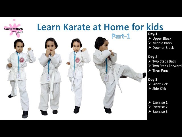 learn karate at home step by step in Hindi/ karate training / how to learn karate at home / lesson 1