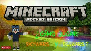 Como jugar Skywars,Eggwars en Minecraft PE 1.2.8.0