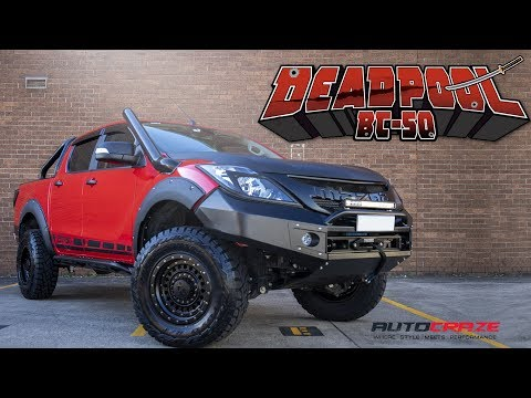 DEADPOOL BT-50 // MAZDA BT-50 SNORKEL, WHEELS, TYRES & 4X4 ACCESSORIES