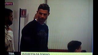 Arrivo dei giocatori alla conferenza stampa per l'addio di Allegri alla Juventus