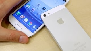 Apple iPhone 5 vs Samsung Galaxy S3 - Speedtest