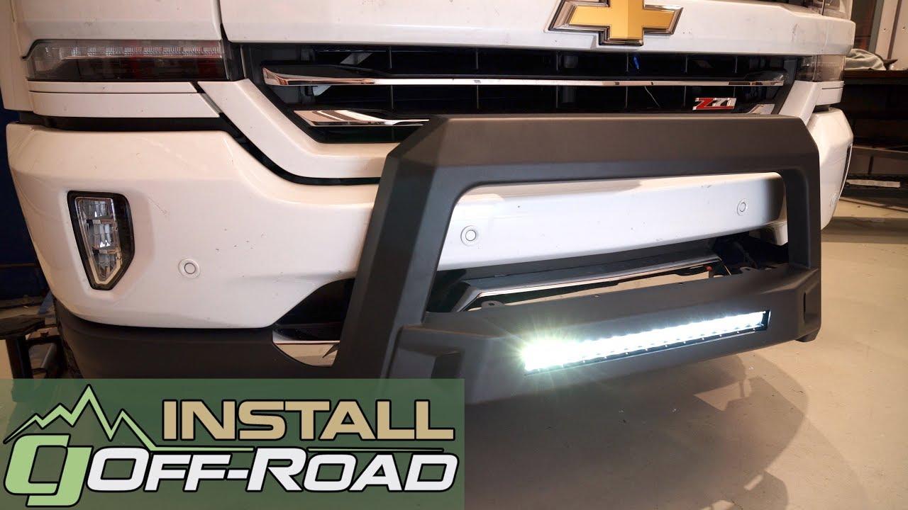 medium resolution of silverado sierra lund bull bar w led light bar wiring black revolution 2007 2018 installation