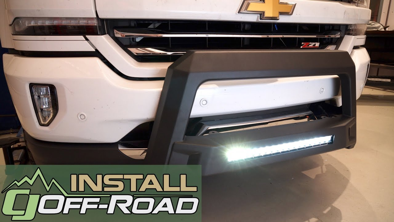 silverado sierra lund bull bar w led light bar wiring black revolution 2007 2018 installation [ 1280 x 720 Pixel ]