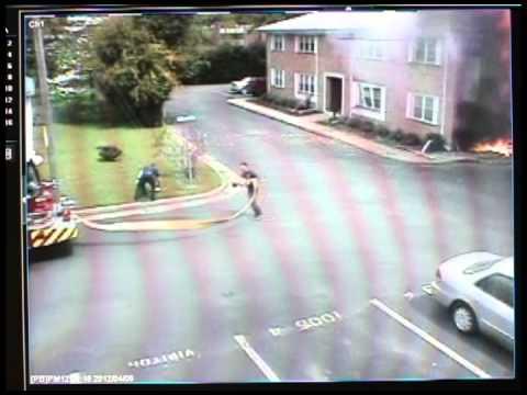 Security camera footage of Navy jet crash in Va. Beach