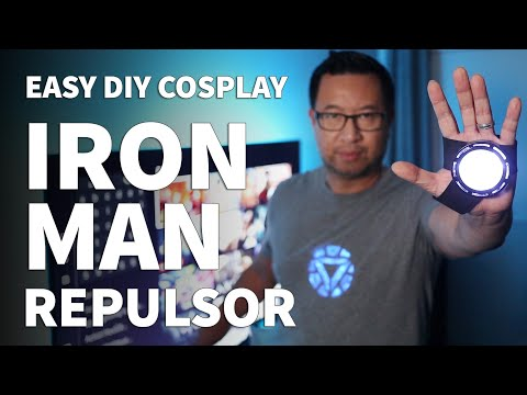 DIY Iron Man Repulsor For Cosplay – Wearable DIY Hand Repulsor For Tony Stark Arc Reactor Costume