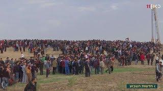 הפגנות הגדר האלימות בעזה נמשכות: 40 פלסטינים נפצעו