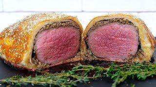 праздничное блюдо   Говядина Веллингтон с грибами в слоеном тесте  Beef Wellington