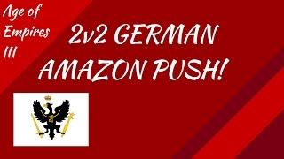 2v2 German Amazon Push! AoE III