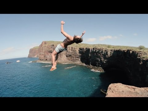Cliff Jumping & Spear Fishing On Lanai, HI (Vloooog)