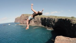 Cliff Jumping & Spear Fishing on Lanai, HI (Vloooog)
