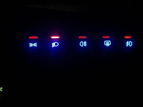 дополнительный индикатор подсветки кнопки ближнего света  ваз 2113