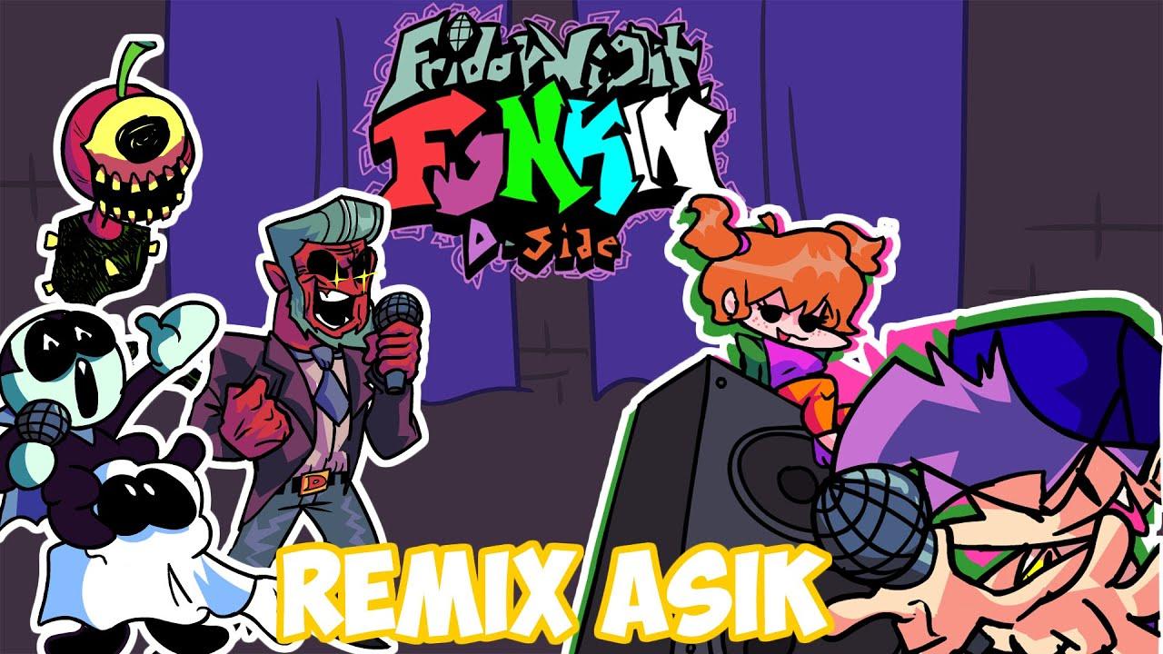 Asik juga nih MOD Remix | D-SIDE MOD - Friday Night Funkin [HARD]
