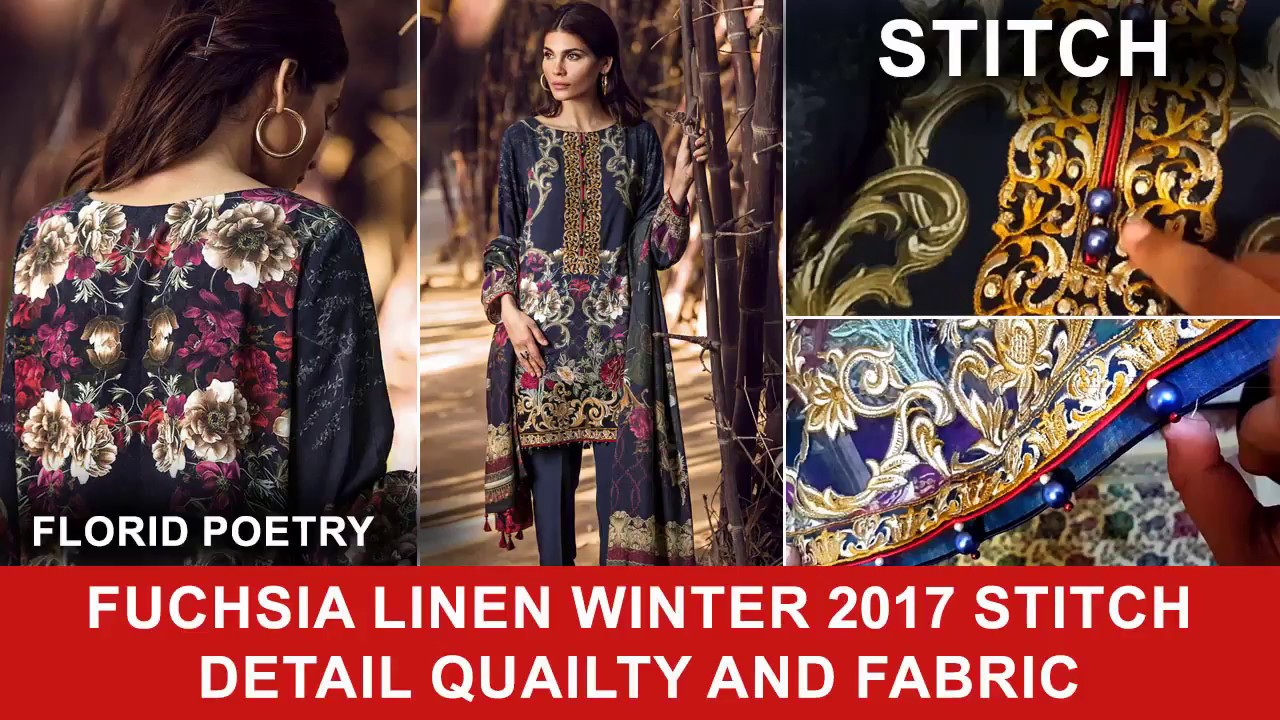 2c8c2f6af2 Baroque Florid Poetry Fuchsia Linen Winter 2017 - Winter Collection 2017