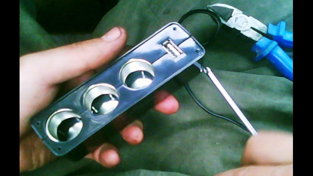 Автомобильный тройник и ЮСБ зарядка. 3 <b>socket car</b> charger and ...
