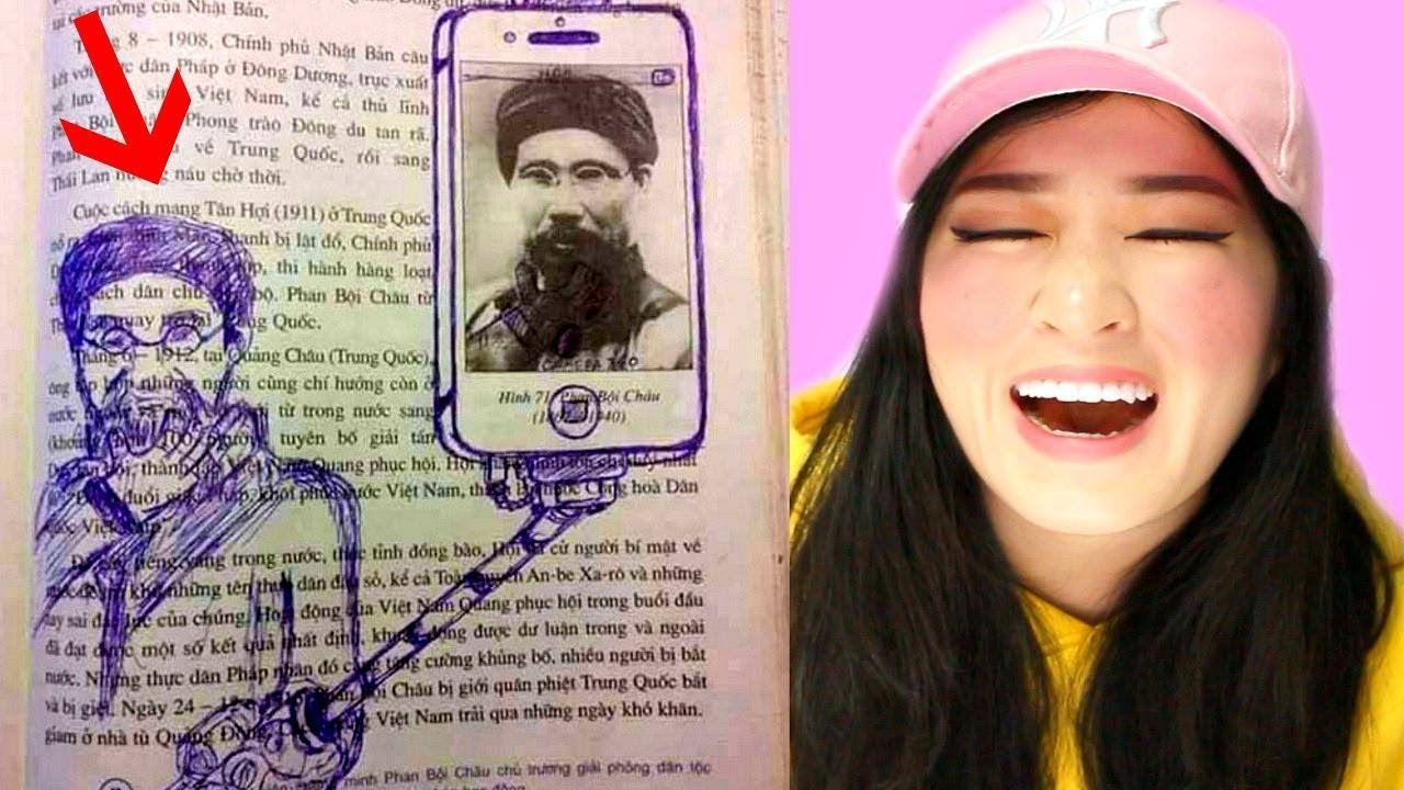 Examples Of Genius Textbook Vandalism By Bored Students YouTube - 20 times students vandalised textbooks in the funniest way