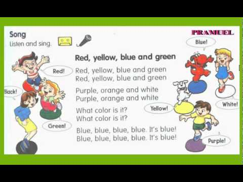 song  Red, yellow,  blue  and  green