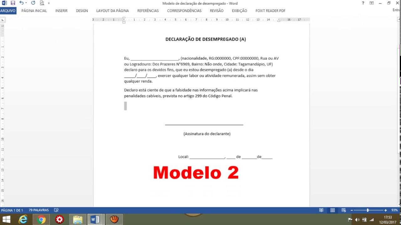 3 Modelo Declaração De Comprovação De Renda Prouni