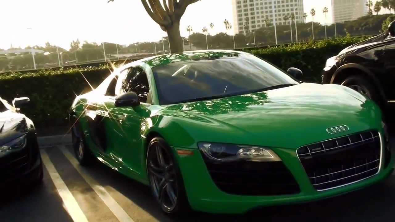 Audi R8 GREEN   Cars And Coffee Irvine Sports Car Event