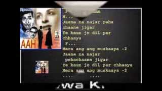 Jaane na nazar ( Aah )Free karaoke with lyrics by Hawwa -