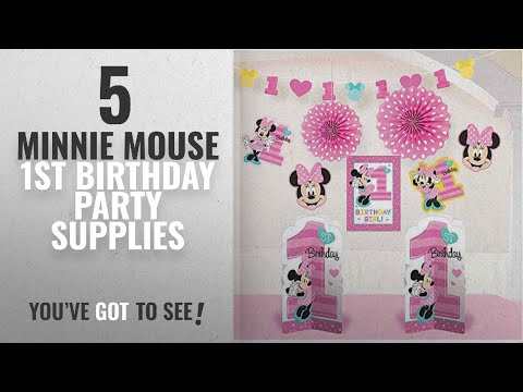 Top 10 Minnie Mouse 1St Birthday Party Supplies [2018]: 1st Birthday Minnie Mouse Room Decorating