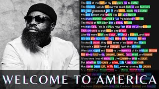 Black Thought - Welcome to America | Lyrics, Rhymes Highlighted