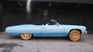 WhipAddict: Stuntworld Procharged 75' Chevrolet Caprice Convertible on gold  Forgiato Attivo 26s by WhipAddict