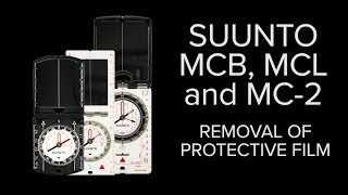 Suunto MCB, MCL and MC 2 - Removal of protective film