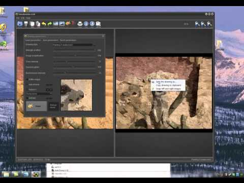 How to use fotosketcher demo