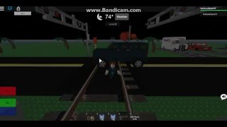 Roblox Car and Jeep hit by Amtrak P42