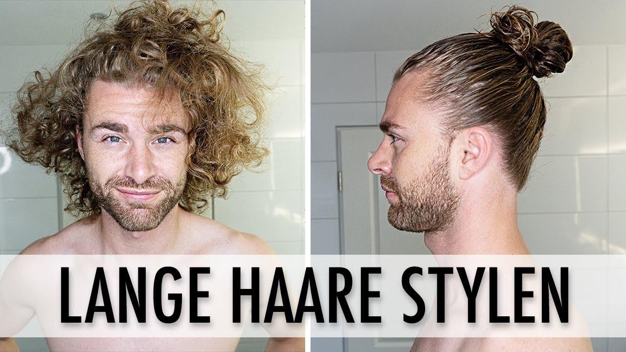 Haarstyling Tutorial Für Männer Lange Haare Stylen